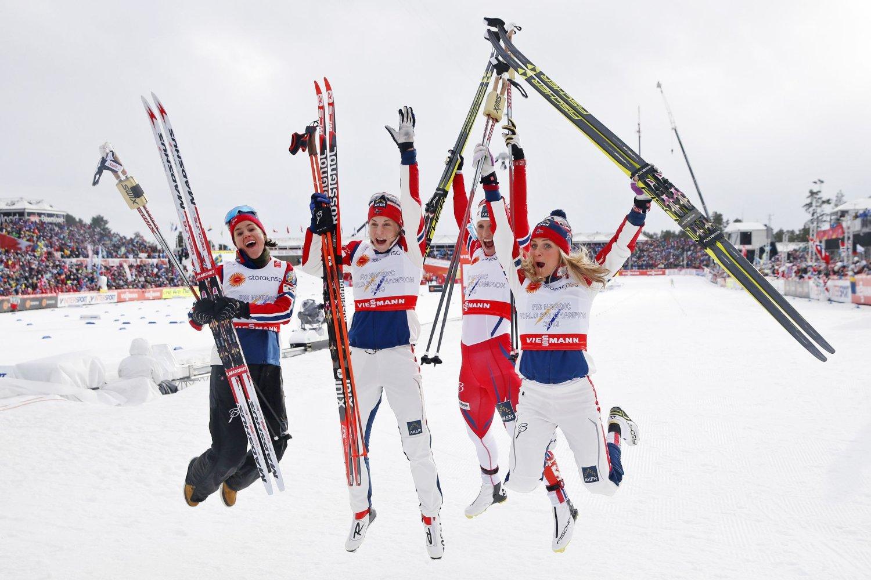 JUBEL: De norske jentene kunne juble for nok et gull.