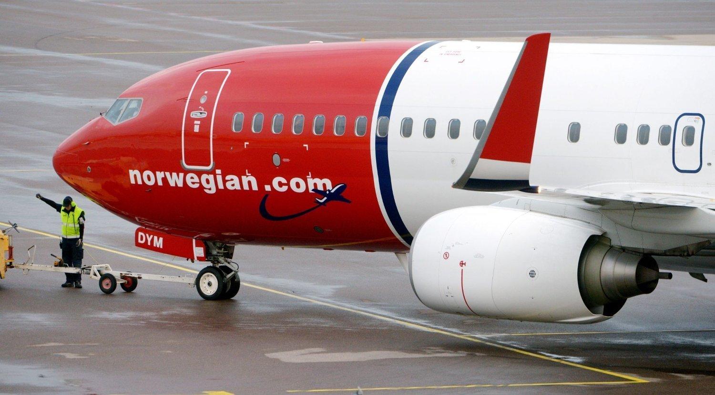 Et fly fra Norwegian på Sturup flyplass utenfor Malmø.