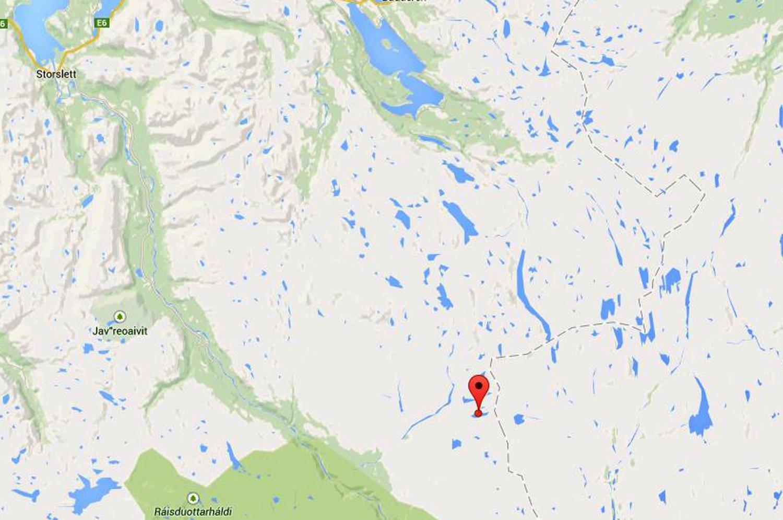 VANN: Skuterfølget skulle overnatte ved vannet Cuollojávri, på grensa mellom Troms og Finnmark.
