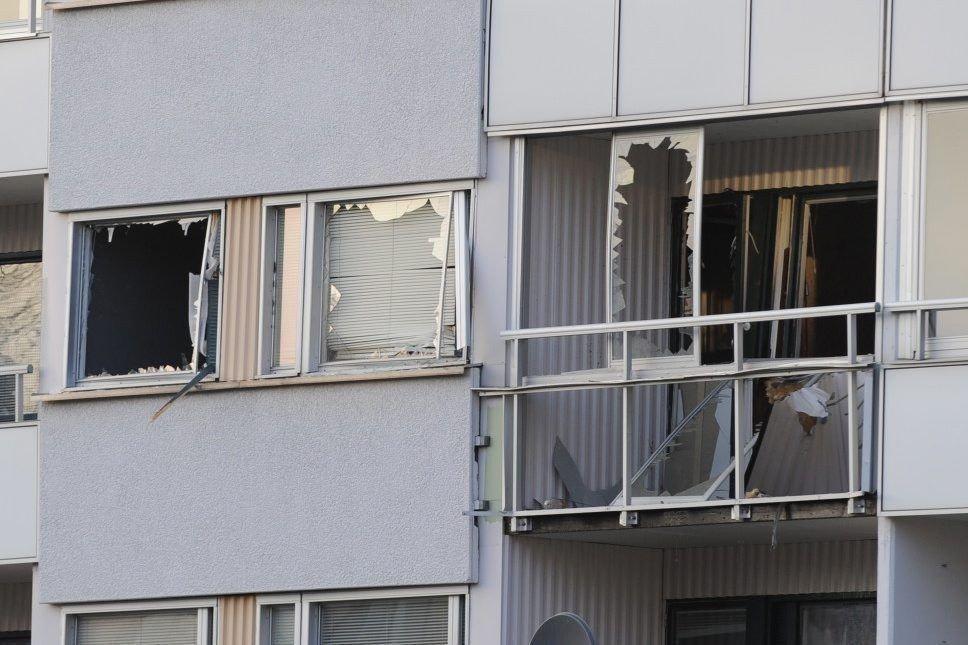 ALVORLIG: Én person er død i forbindelse med en eksplosjon i en leilighet i Nyköping.