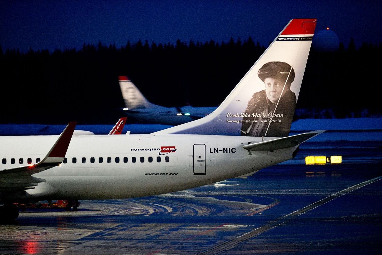 PARKERER: Alle innenriksfly i Skandinavia kanselleres onsdag.