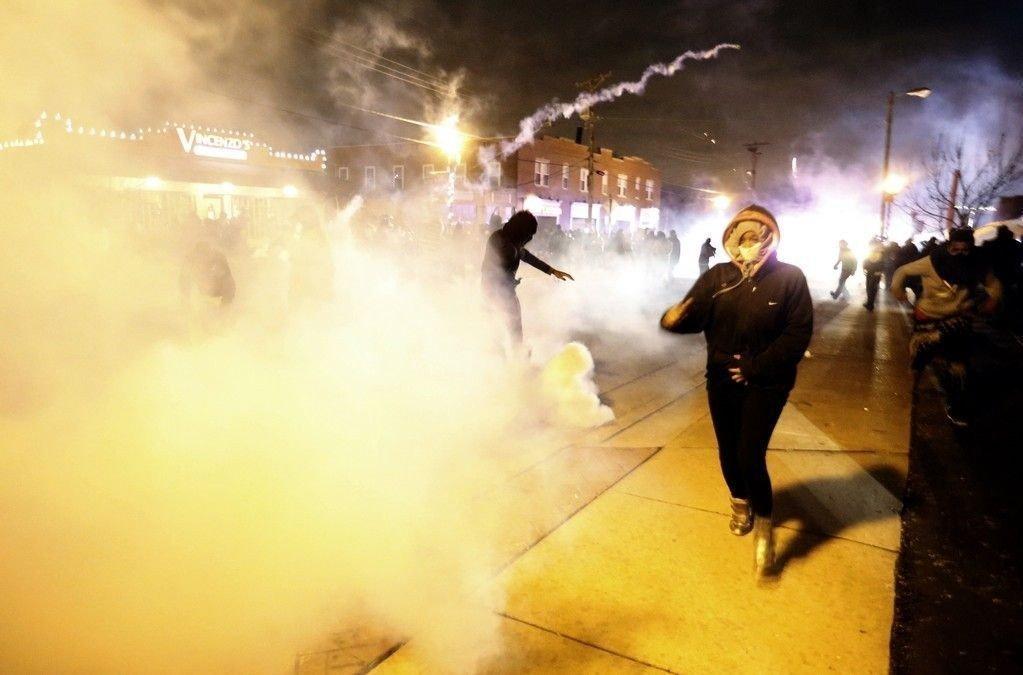 Det var i fjor høst store protester i Ferguson.