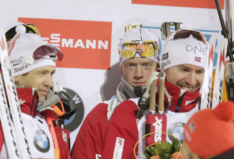 SØLVGUTTER: Det ble bare andreplass for Norge på stafetten i VM.