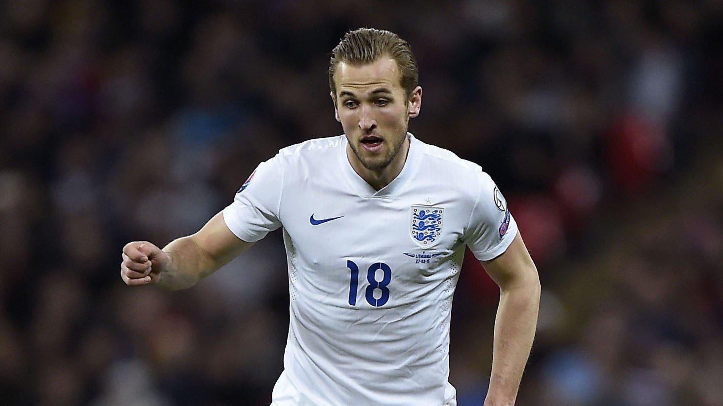 Målmaskin: Harry Kane scoret i sin første landskamp for England.