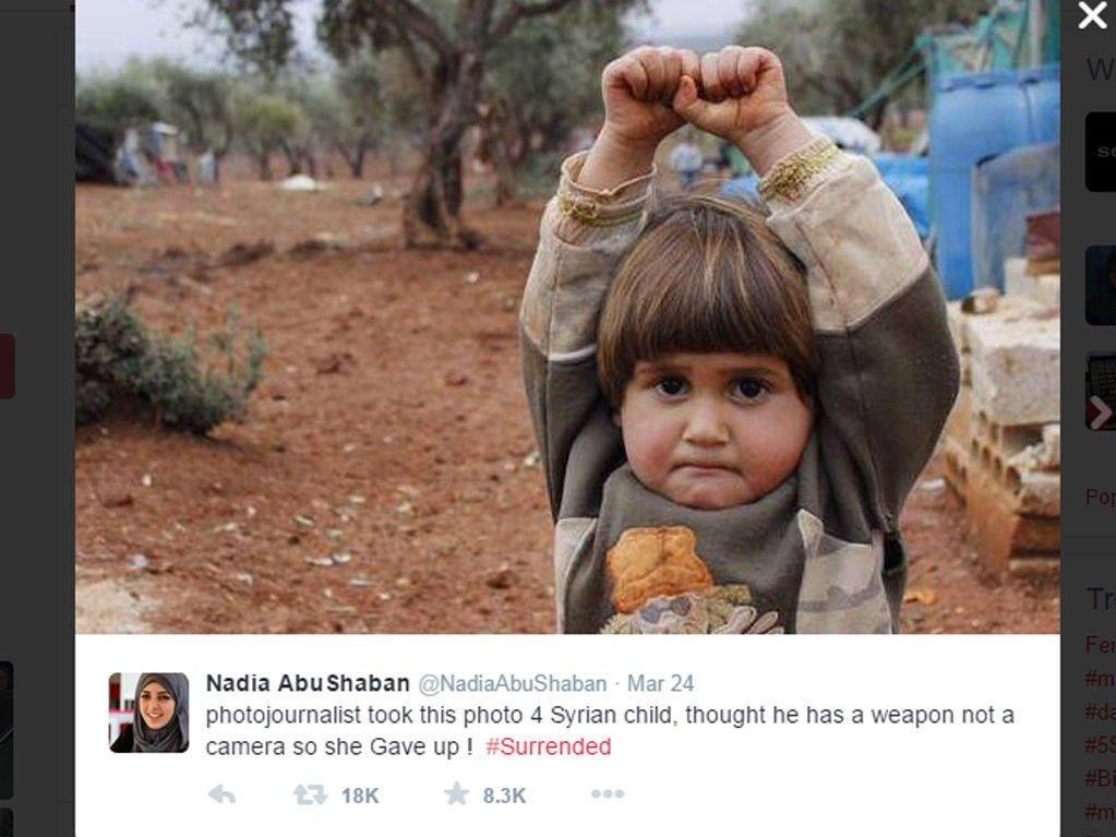 VEKKET FØLELSER: Da Nadia AbuShaban delte dette bildet på Twitter, kom reaksjonene.
