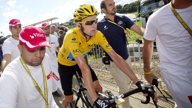 NY SYKKEL: Tidligere Tour de France-vinner Bradley Wiggins røper at Sky har et hemmelig våpen i Flandern Rundt søndag. Det skal være utviklet en helt ny sykkel, som skal være fantastisk i de brosteinspartiene rytterne vil møte i flere av de store klassikerrittene som står for tur.
