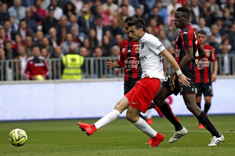 Javier Pastore var strålende for PSG mot Nice lørdag.
