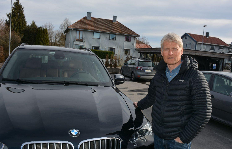 MISFORNØYD: Jon Unger Nordveel har brukt Teie Bilpleie mange ganger, og har alltid vært fornøyd - frem til nå. Foto: Silje Gomnæs (Tønsbergs Blad)