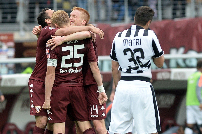 SEIER: Torino-spillerne jubler over lagets første seier over byrival Juventus på 20 år.