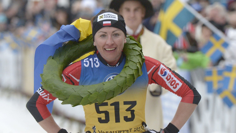 LANGLØP: Justyna Kowalczyk ønsker å satse på langløp. Her fra seieren hennes i Vasaloppet forrige sesong.