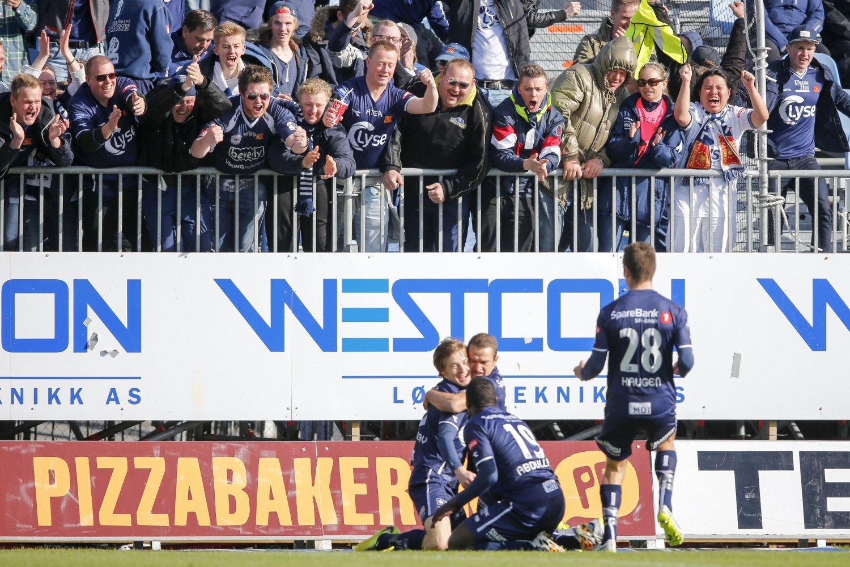 SCORET: Her feirer Yann-Erik de Lanlay Vikings 1-0-scoring.