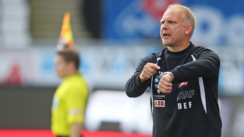 Dag-Eilev Fagermo var fornøyed med tre poeng mot Strømsgodset onsdag kveld.