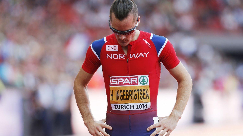 IKKE FORNØYD: Henrik Ingebrigtsen løp 3.000 meter i Doha fredag.