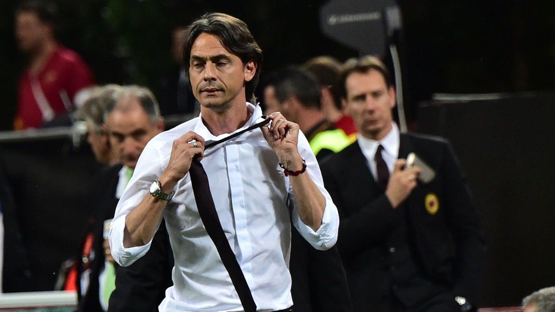 SNART FERDIG? Silvio Berlusconi går langt i å antyde at Filippo Inzaghi kan være ferdig som Milan-trener etter sesongen.