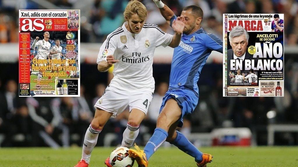 GODKJENT: Martin Ødegaard får skryt i spanske aviser.