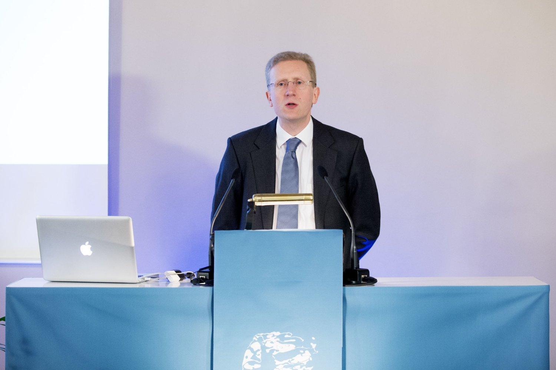 Abelkomiteen sørger over tapet av matematikeren John Nash. Bildet er fra da komitéleder John Rognes leser begrunnelsen for tildelingen av Abelprisen for 2015.