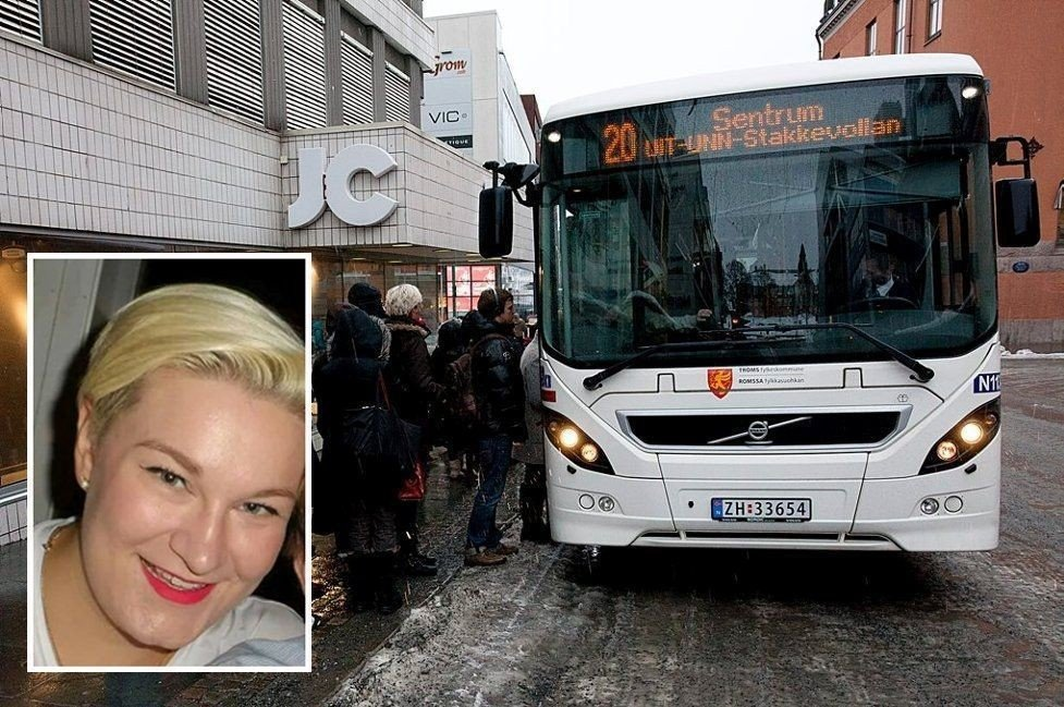 SJOKKERT: Eirin Kristin Kjær (innfeldt) ble sjokkert da en mann ropte rasistiske uttrykk mot en mor og hennes barn på bussen.