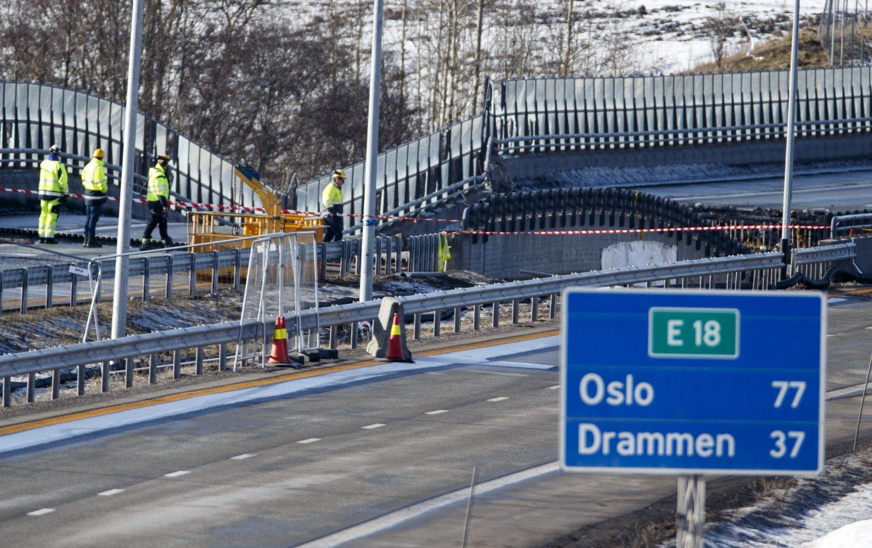 FRAMSKYNDES: Skjeggestad bru på E18 åpner fredag, to dager tidligere enn planlagt.