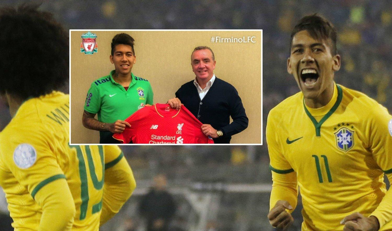 ELLEVE: Roberto Firmino blir å se med draktnummer elleve i Liverpool.