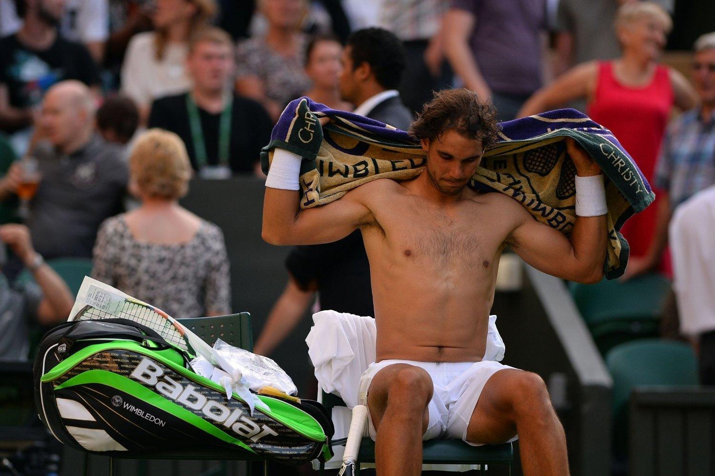 SLÅTT UT: Tennisstjerne Rafael Nadal.