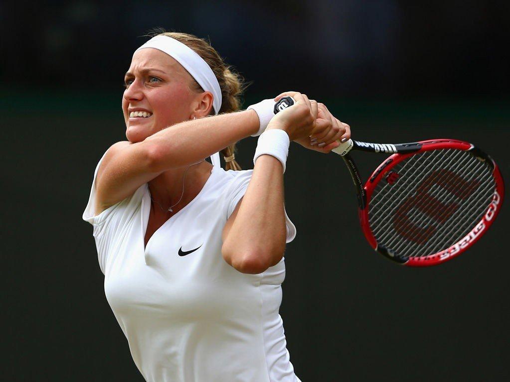 UTSLÅTT: Wimbledonvinneren fra i fjor, Petra Kvitova.