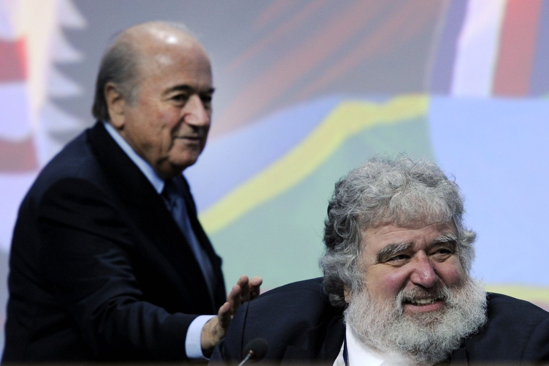 UVENNER: Chuck Blazer gjorde seg meget upopulær hos FIFA-president Sepp Blatter da han delte informasjon om korrupsjon og andre lovbrudd til FBI.