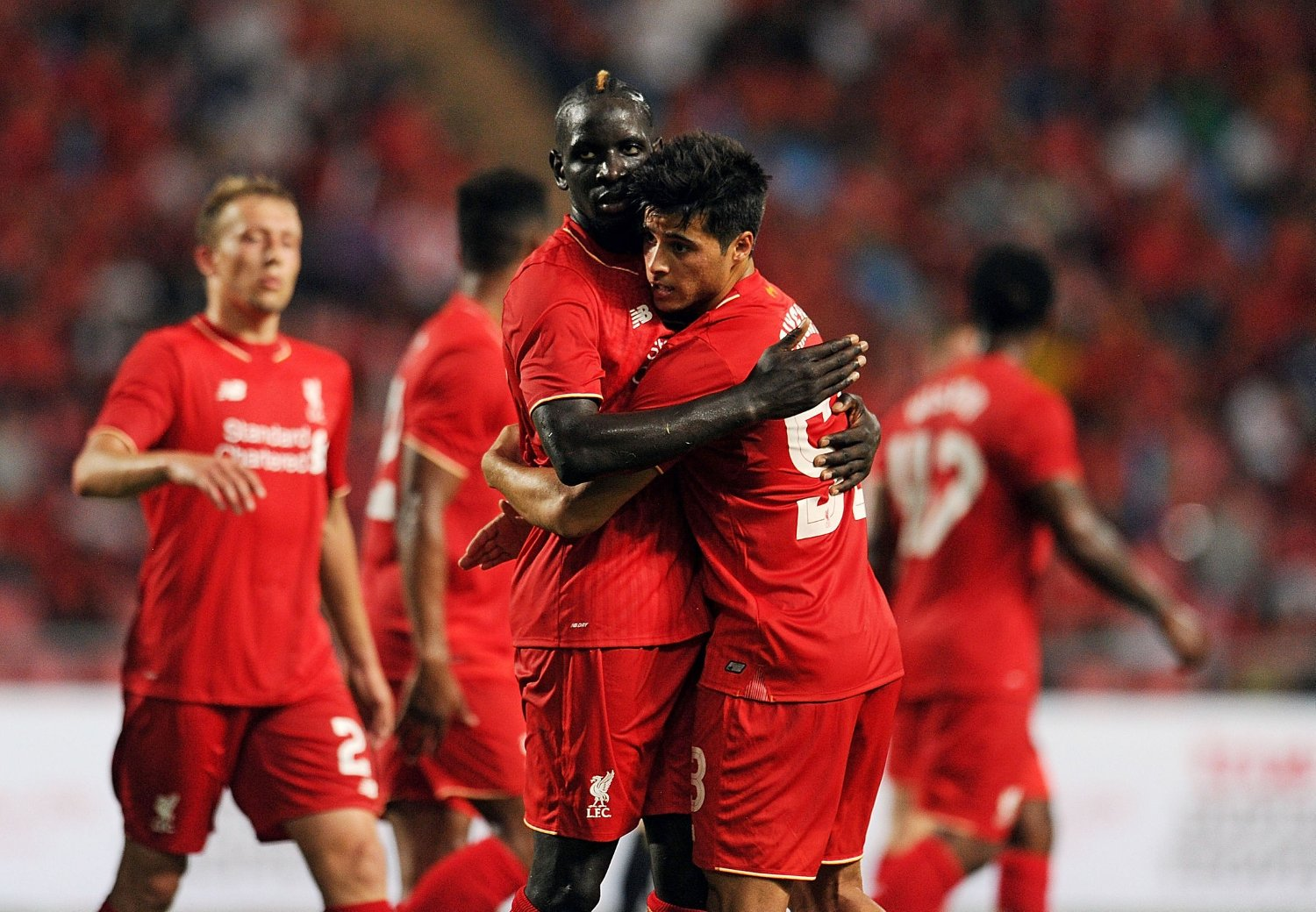 IMPONERTE: Unge Joao Teixeira med to assists for Liverpool.