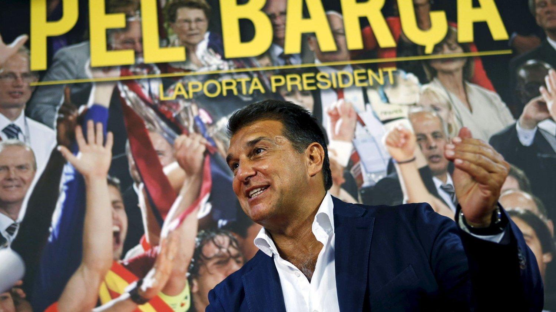 Joan Laporta kan bli Barcelona-president lørdag.