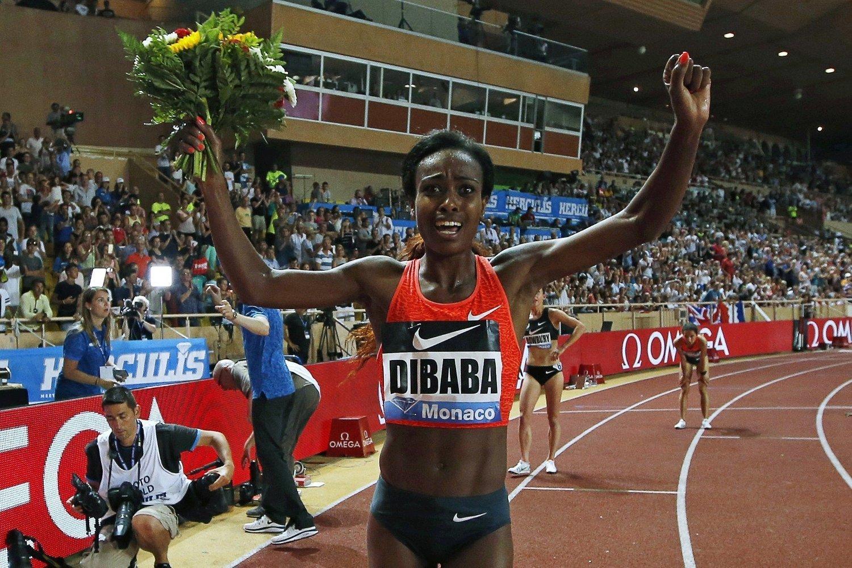 NY REKORD: Ingen har løpt 1500 meter fortere enn Genzebe Dibaba.
