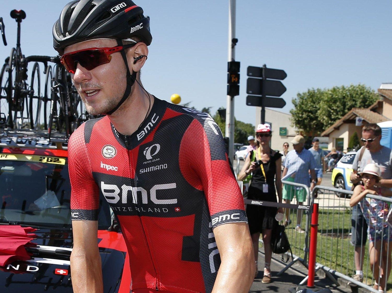 SLUTT PÅ MOROA: En sykdomsplaget Tejay Van Garderen måtte stå av onsdagens Tour de France-etappe.