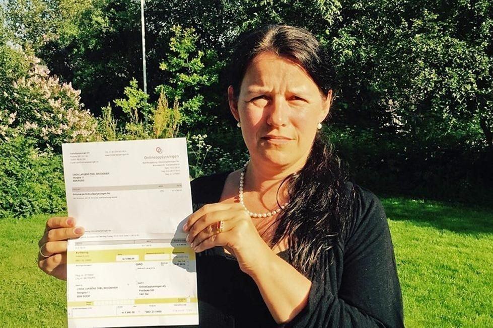 Linda Olaussen Larsen er oppgitt og forbannet over useriøse aktører. (Foto: Privat)