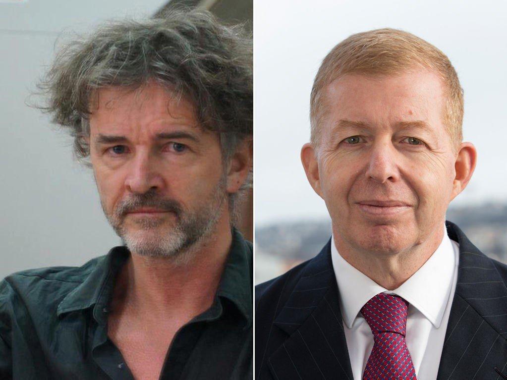 Ny Tid-redaktør Truls Lie og Israels ambassadør Raphael Schutz.