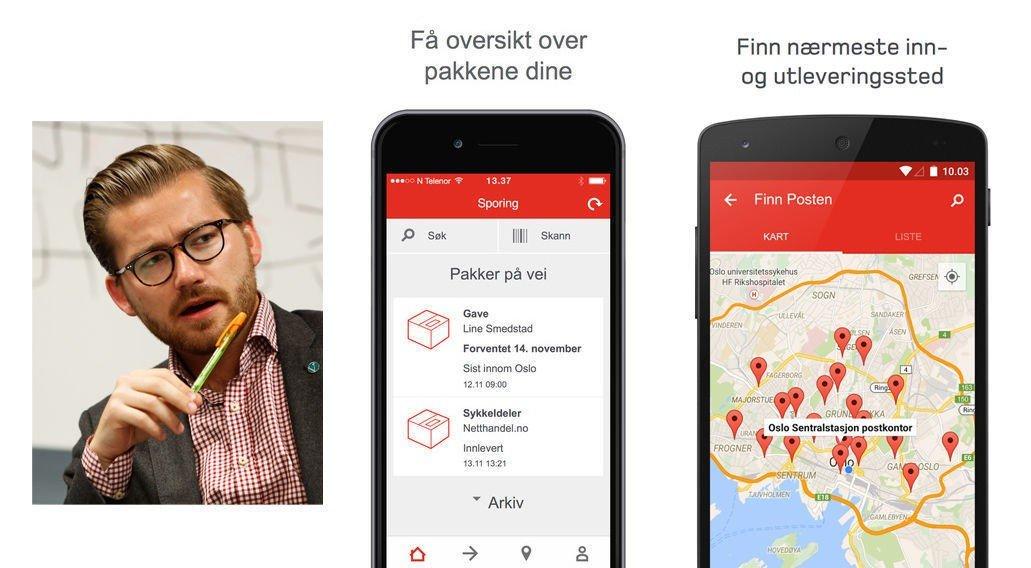 Venstres Sveinung Rotevatn mener Posten bommer når de sporer kundene sine via pakkesporingsappen.