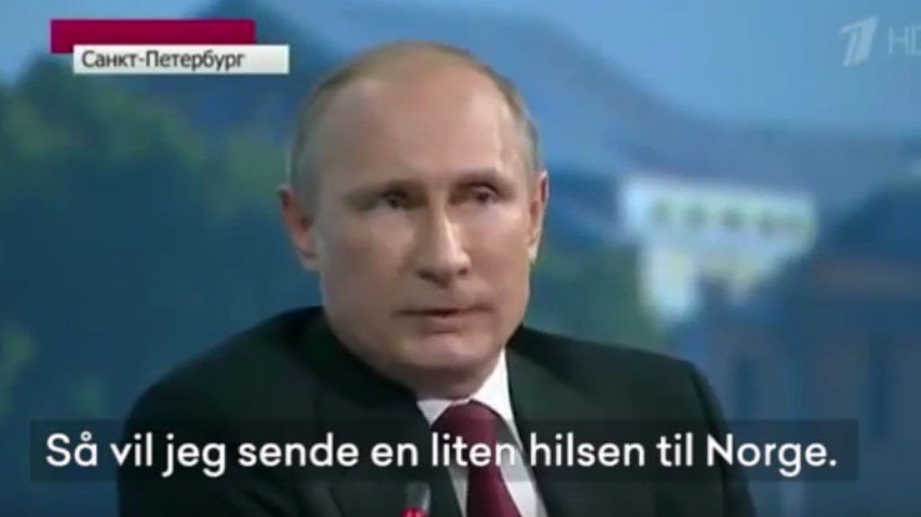 LÅNER PUTIN: Russlands president Vladimir Putin brukes av Rød Ungdom i en protestvideo mot at Rødt ikke får delta i NRKs partilederdebatt.