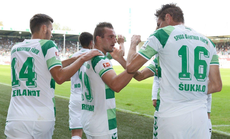 SCORET: Veton Berisha noterte seg for mål i Tyskland.