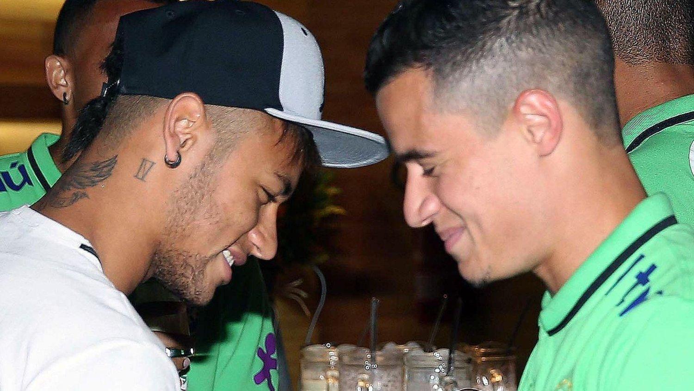 VENNER: Neymar har en drøm om å spille sammen med Philippe Coutinho i Barcelona.