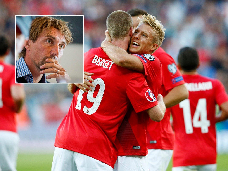 POSITIVITET: Det norske landslaget har vært omgitt av optimisme etter 2-0-seieren over Kroatia i september. Det gjør Vidar Riseth (innfelt) nervøs.
