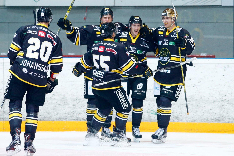 STORSEIER: Stavanger Oilers tok en overlegen seier mot Lørenskog lørdag kveld.