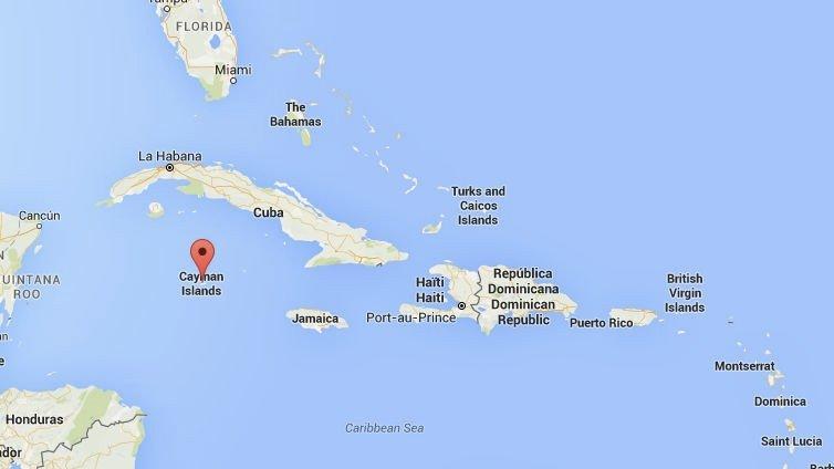Ulykken skjedde ved Cayman Islands i Karibia.