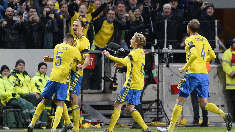 VANT: Zlatan Ibrahimovic ble matchvinner med sin 2-0-scoring.