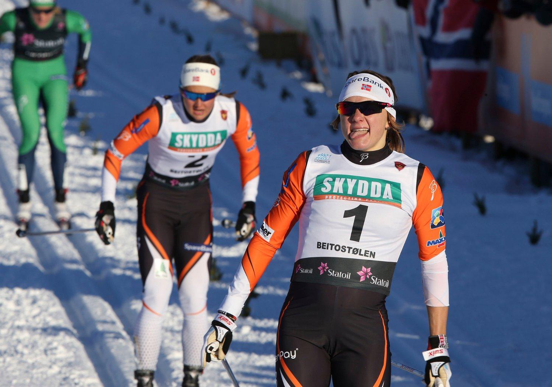DISKET: Maiken Caspersen Falla var overlegent best i sprintfinalen på Beitostølen, men ble disket.