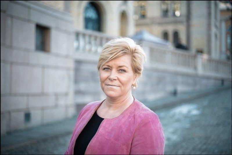 FRP-LEDER: Siv Jensen.