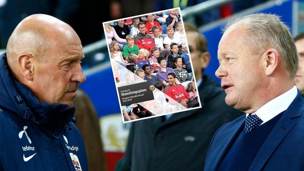 DÅRLIGE RESULTATER: Toppfotballsjef Nils Johan Semb og Per-Mathias Høgmo har ikke lykkes med å nå hovedmålene i handlingsplanen.