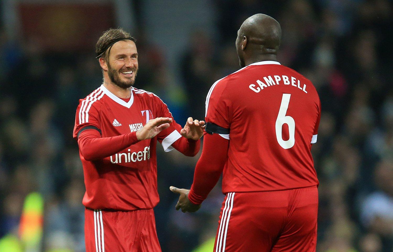 PLANER: David Beckham, her sammen med Sol Campbell i en oppvisningskamp i november, kan få et nytt lag inn i MLS.