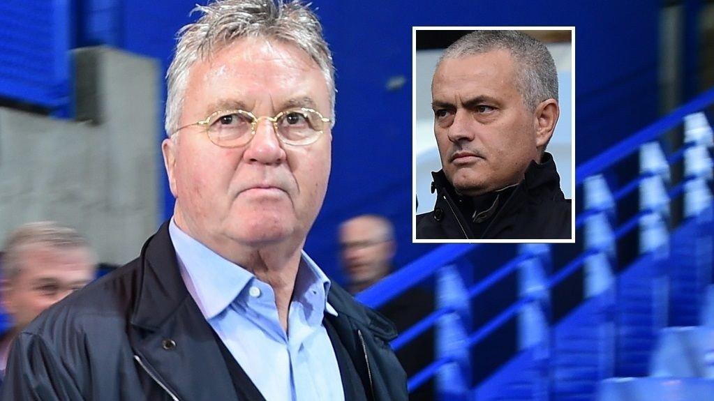 HADDE MØTE: Guus Hiddink og José Mourinho møttes på et hotell og gikk gjennom Chelsea-stallen, skriver The Sun.