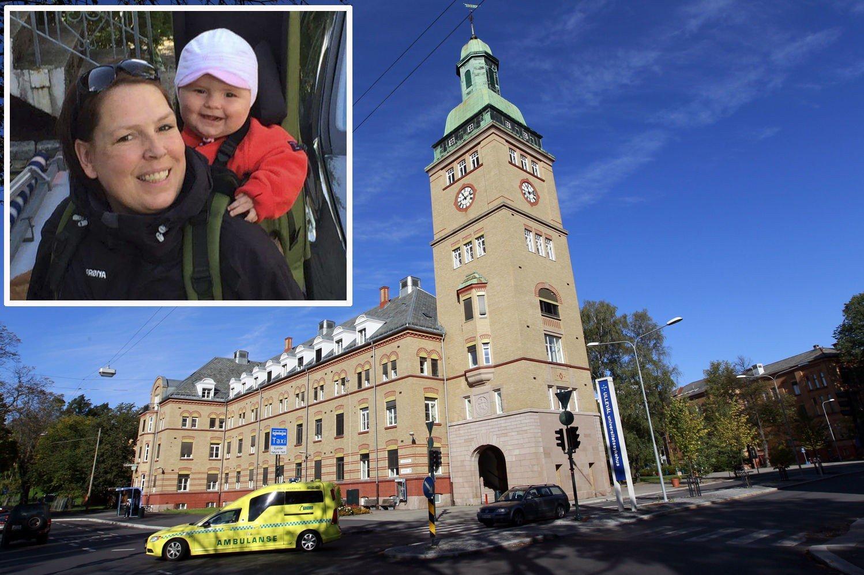 MISTET STILLINGEN: Da Elisabeth Waal Presthagen kom tilbake fra svangerskapspermisjon etter å ha født Mia, Hadde Oslo universitetssykehus endret stillingen hennes. Nå har Likestillingsombudet gitt henne medhold i at sykehuset brøt loven.