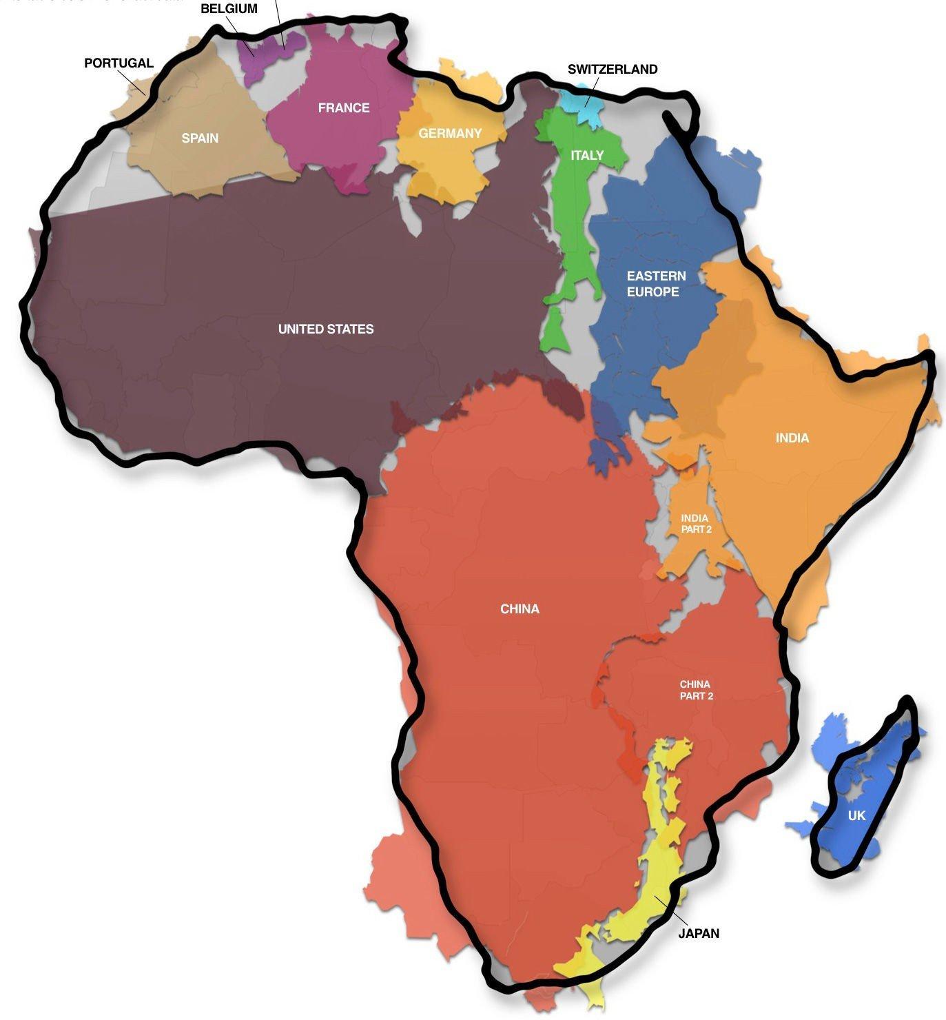 Vitenskap Historie Kartet Over Afrika Som Forbloffer Oss