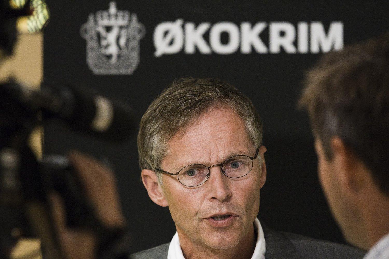 Førstestatsadvokat Morten Eriksen avbildet i 2011 da Økokrim holdt pressekonferanse i anledning påtaleavgjørelse Transocean-saken.