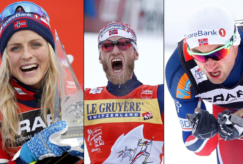 SUKSESS: De norske løperne håver inn etter gode resultater i Tour de Ski.