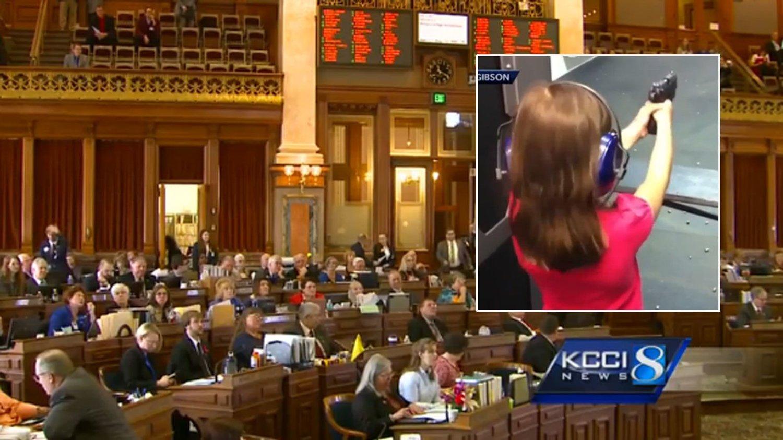 REPRESENTANTENES HUS i Iowa stemte onsdag igjennom en lov som lar barn bruke skytevåpen.